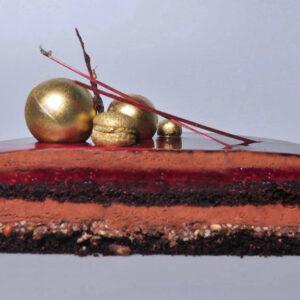 малина-шоколад разрез