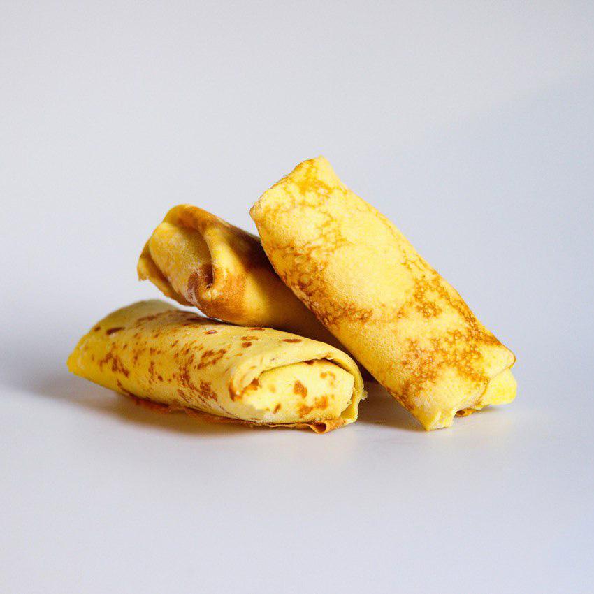 Блинчики с курицей и сыром моцарелла